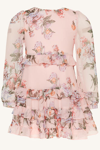 HENRI FRILL DRESS in colour HEAVENLY PINK