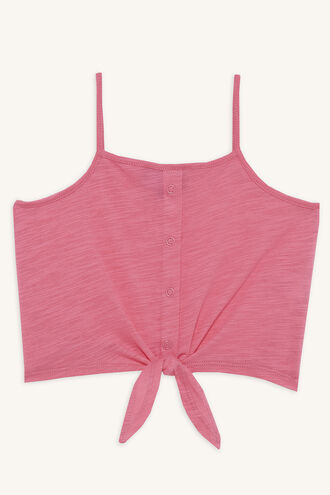 LIZA KNOT CAMI in colour AZALEA PINK