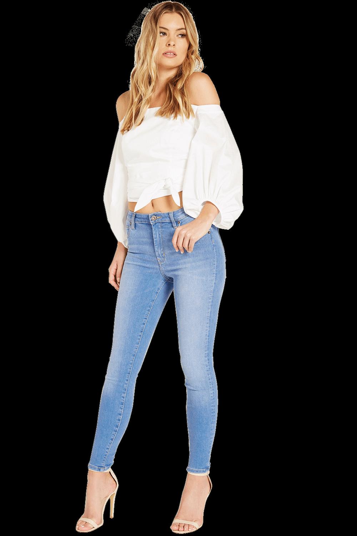 LEANDRA TIE TOP in colour BRIGHT WHITE