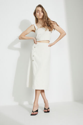 THE BUTTON FRONT SKIRT in colour MOONLIGHT