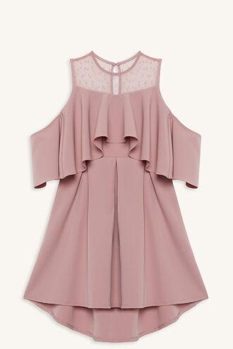 JAIDA HI-LO DRESS in colour POWDER PINK