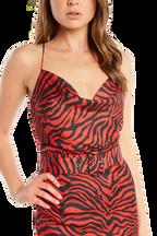 JULIA STRAP TOP in colour RIBBON RED