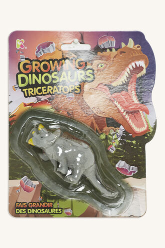 GROWING DINOSAUR TRICERATOPS in colour BRIGHT WHITE