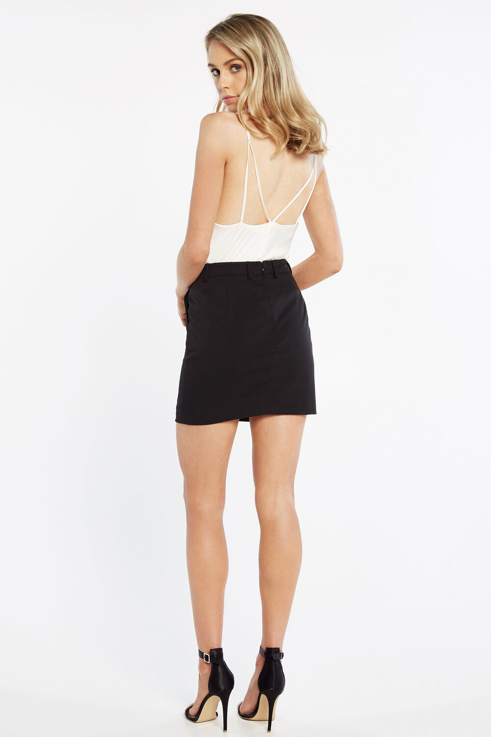 TAILORED SKIRT in colour CAVIAR