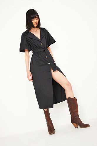 DAY SHIRT DRESS in colour CAVIAR