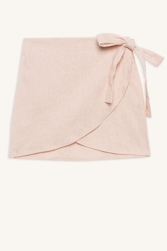 EMMA WRAP SKIRT in colour SILVER PEONY