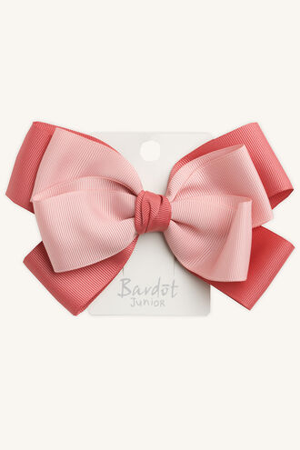 TWO TONE GROSGRAIN BOW in colour PINK CARNATION