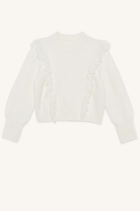NELL CABLE KNIT JUMPER in colour CLOUD DANCER
