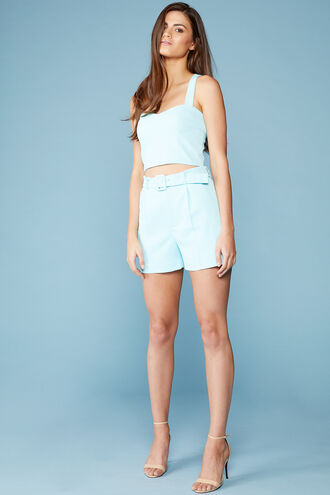 PARISIENNE SHORT in colour TANAGER TURQUOISE
