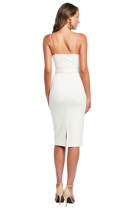 BIANCA MIDI DRESS in colour CLOUD DANCER