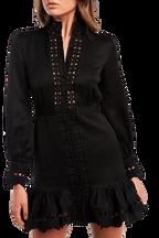 TRISTA MINI DRESS in colour CAVIAR