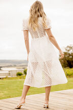 JORDAN LACE DRESS in colour CLOUD DANCER