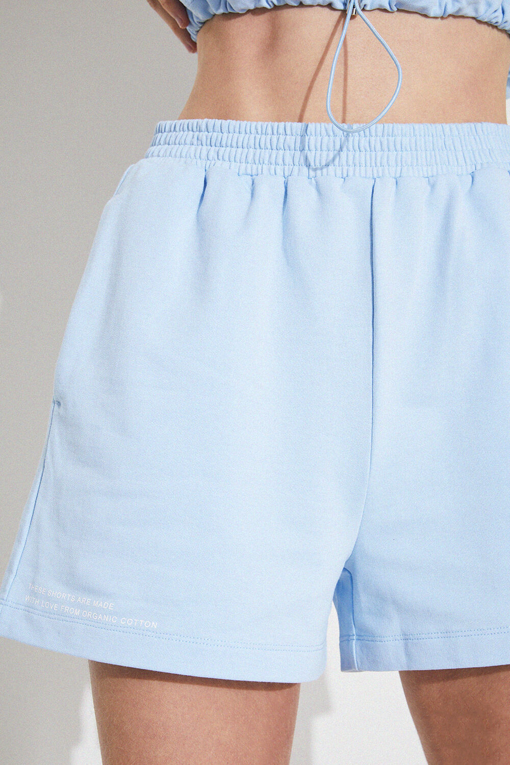 TRACK SHORTS in colour CERULEAN