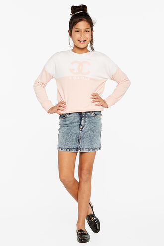 SPLICED GC SWEAT TOP in colour PRIMROSE PINK