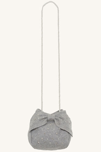 FELTED PEARL BOW BAG in colour GRAY MIST