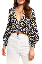 DENISE TIE TOP in colour CAVIAR