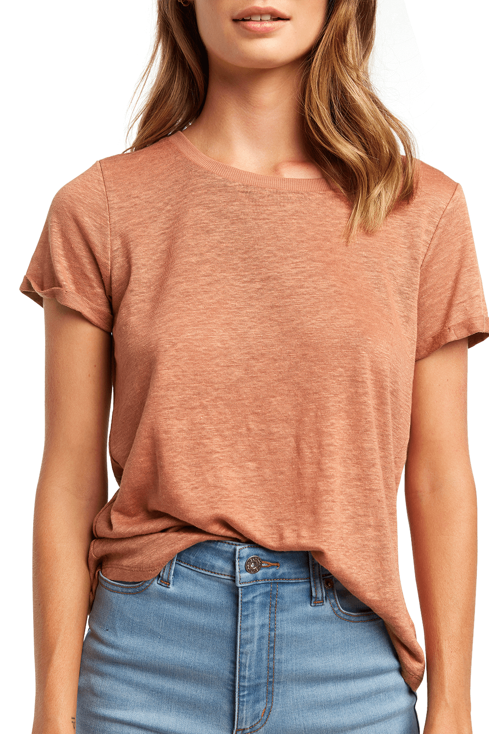 BRIXTON TEE in colour COPPER BROWN