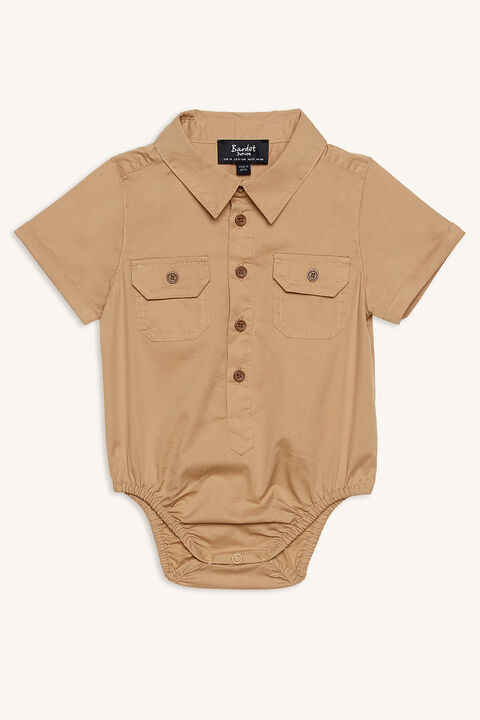 UTILITY SHIRT GROW in colour TANNIN