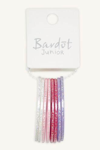 MULTI BANGLE SET in colour PINK CARNATION