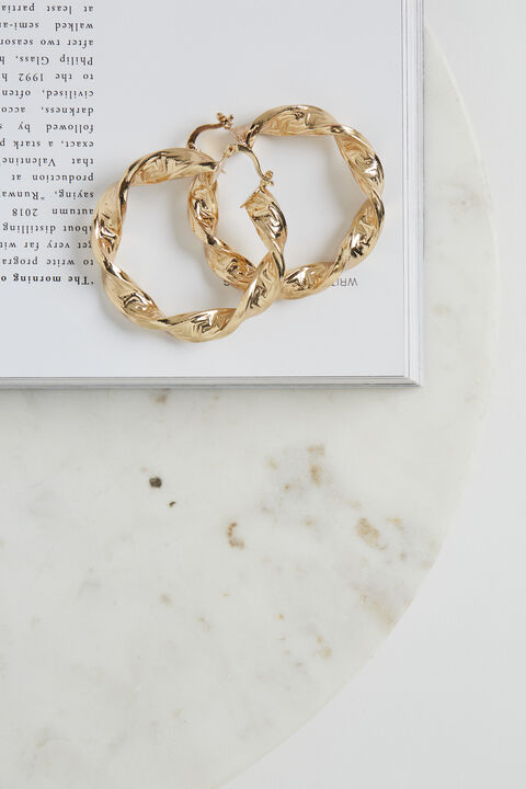 TWIST EARRINGS in colour GOLD EARTH
