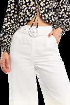 LENNY LINEN PANT in colour CLOUD DANCER