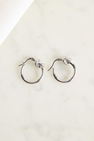KNOT EARRING in colour SILVER