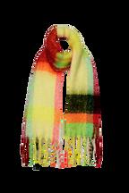 NEON CHECK SCARF in colour BRIGHT WHITE