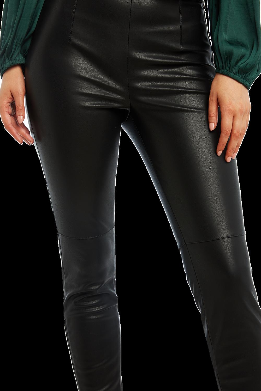 TAILORED PU PANT in colour CAVIAR