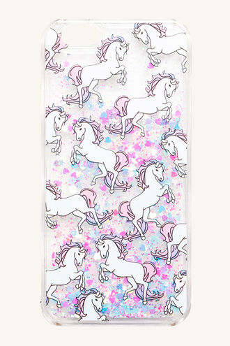GLITTER UNICORN PHONE COVER in colour BRIGHT WHITE