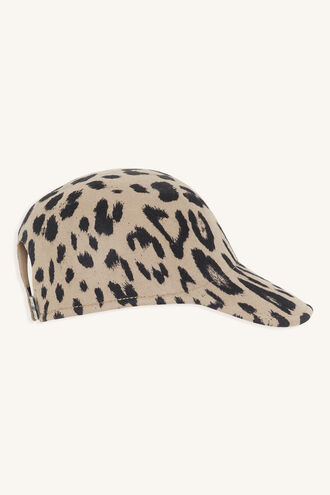 ANIMAL MOULDED FELT CAP in colour ANTELOPE