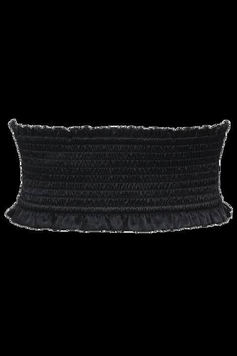 SHIRRED CORSET in colour CAVIAR