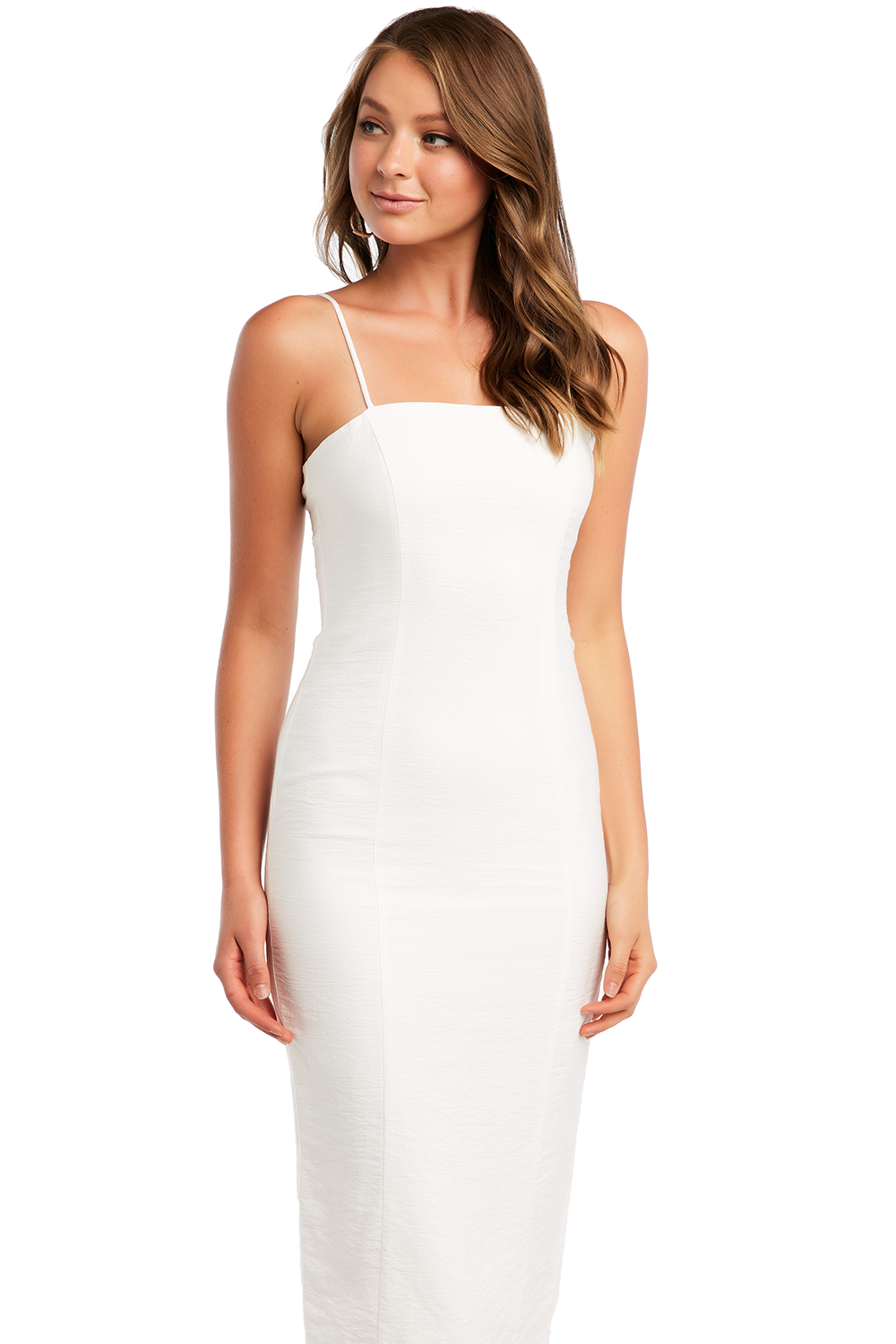 CANDICE FITTED DRESS in colour CLOUD DANCER