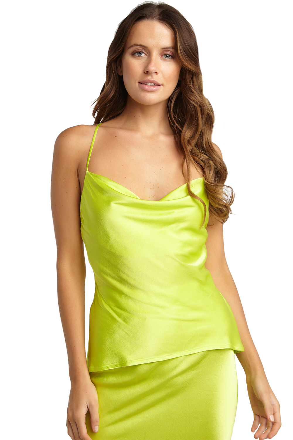 JULIA STRAP TOP in colour LIMELIGHT