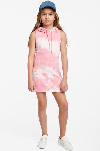 LEILA HOODED DRESS in colour BALLERINA