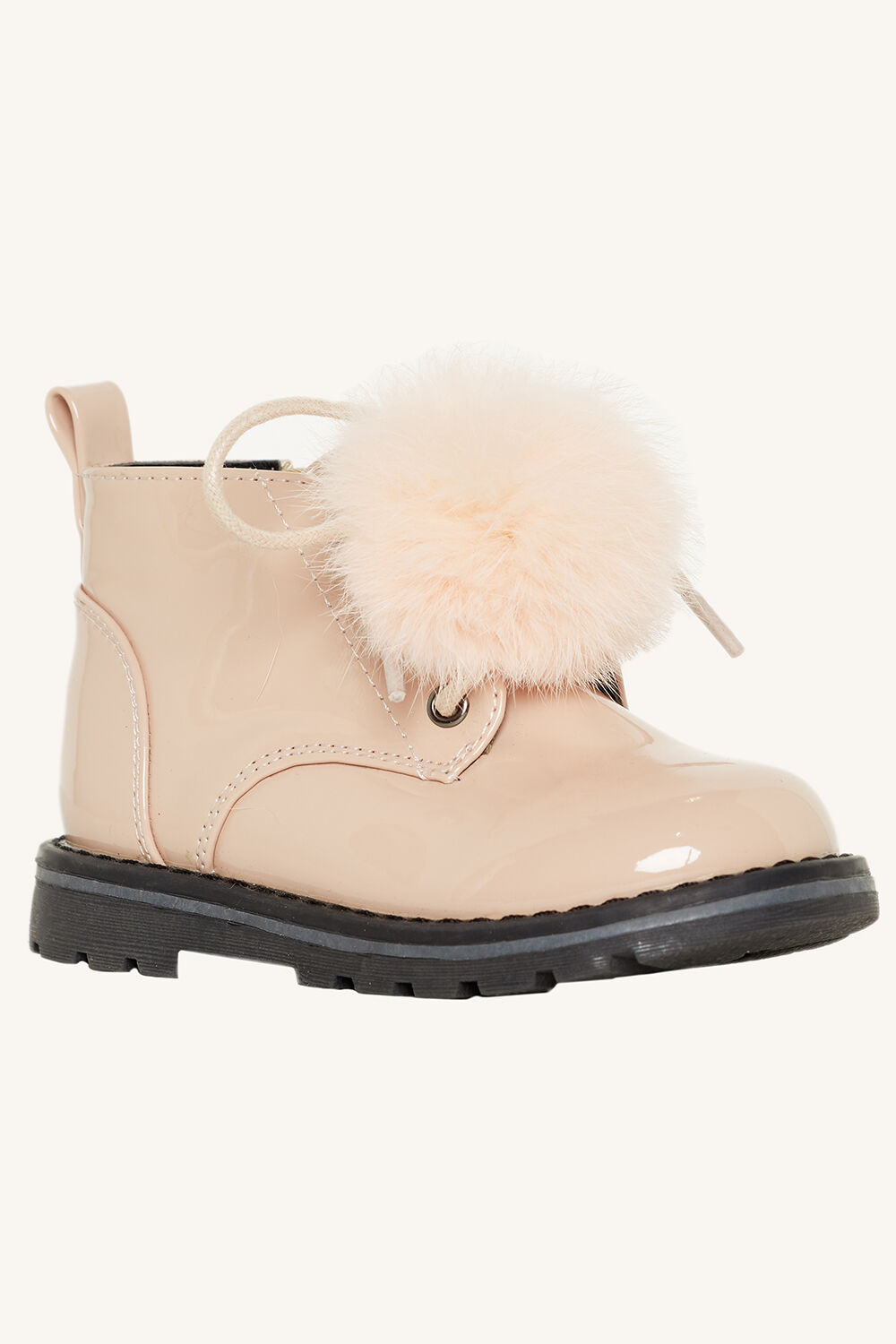 POM PATENT BOOT in colour PINK CARNATION