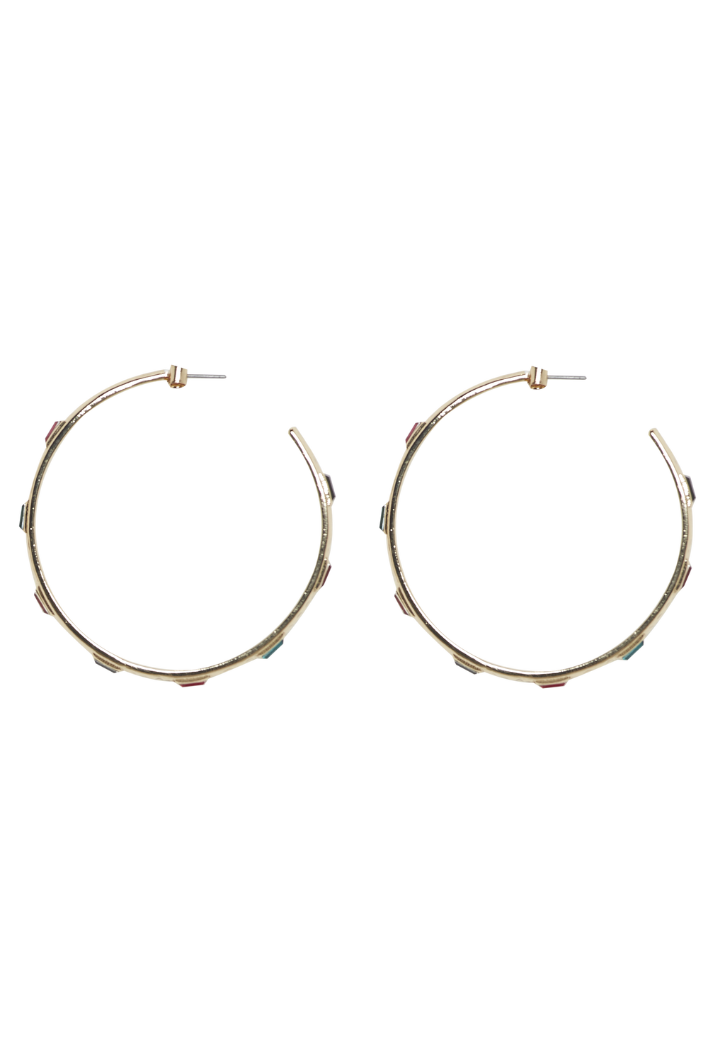 MULTI COLOUR HOOP EARRINGS in colour GOLD EARTH