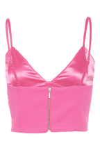 CARMEN BRALETTE TOP in colour FUCHSIA PURPLE