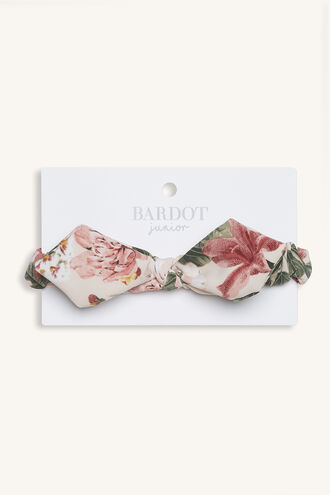EBONY BOW BABY HEADBAND in colour PEACH