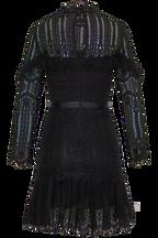 TESSIE LACE DRESS in colour CAVIAR