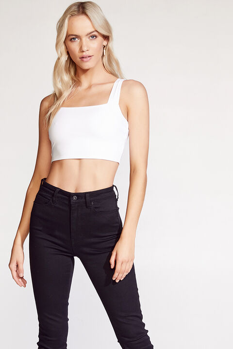 TENILLE CROP TOP in colour BRIGHT WHITE