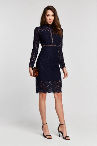 ROZIE LACE DRESS in colour MARITIME BLUE