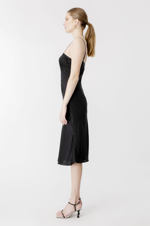 AZZURA SLIP DRESS in colour CAVIAR