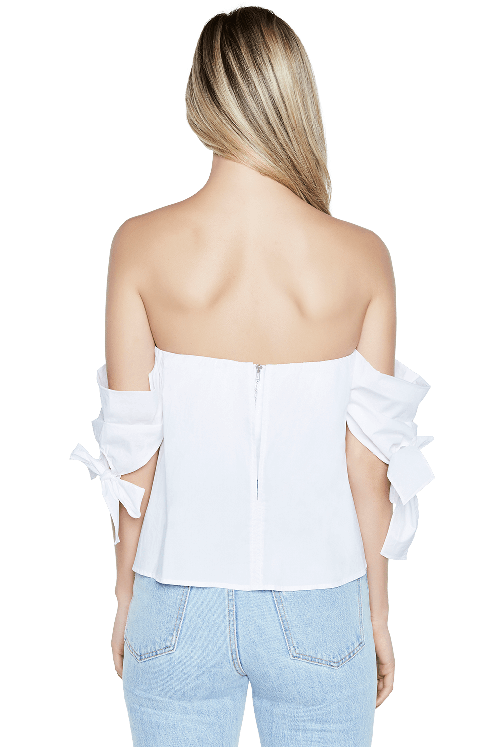 WYATT STRAPLESS TOP in colour CLOUD DANCER