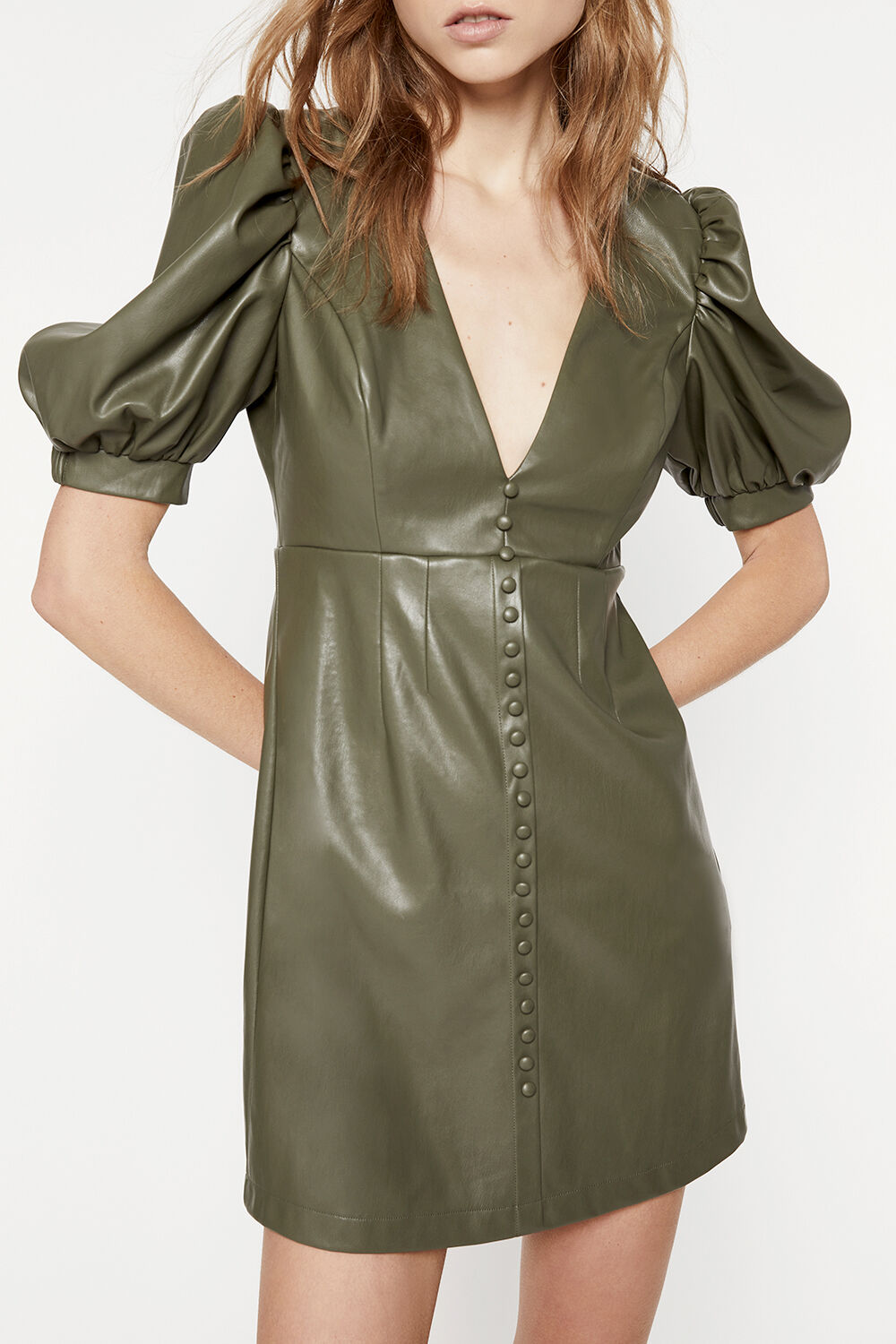 HARTLEY MINI DRESS in colour IVY GREEN