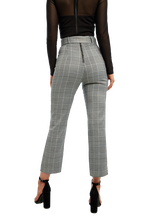 BELTED CHECK PANT in colour CLOUD DANCER
