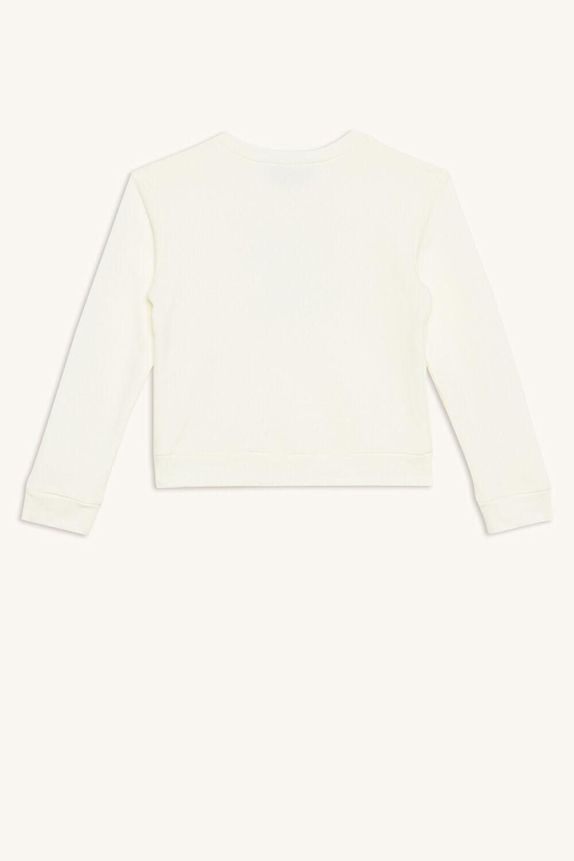 GIRLS CLUB SWEAT TOP in colour WHISPER WHITE