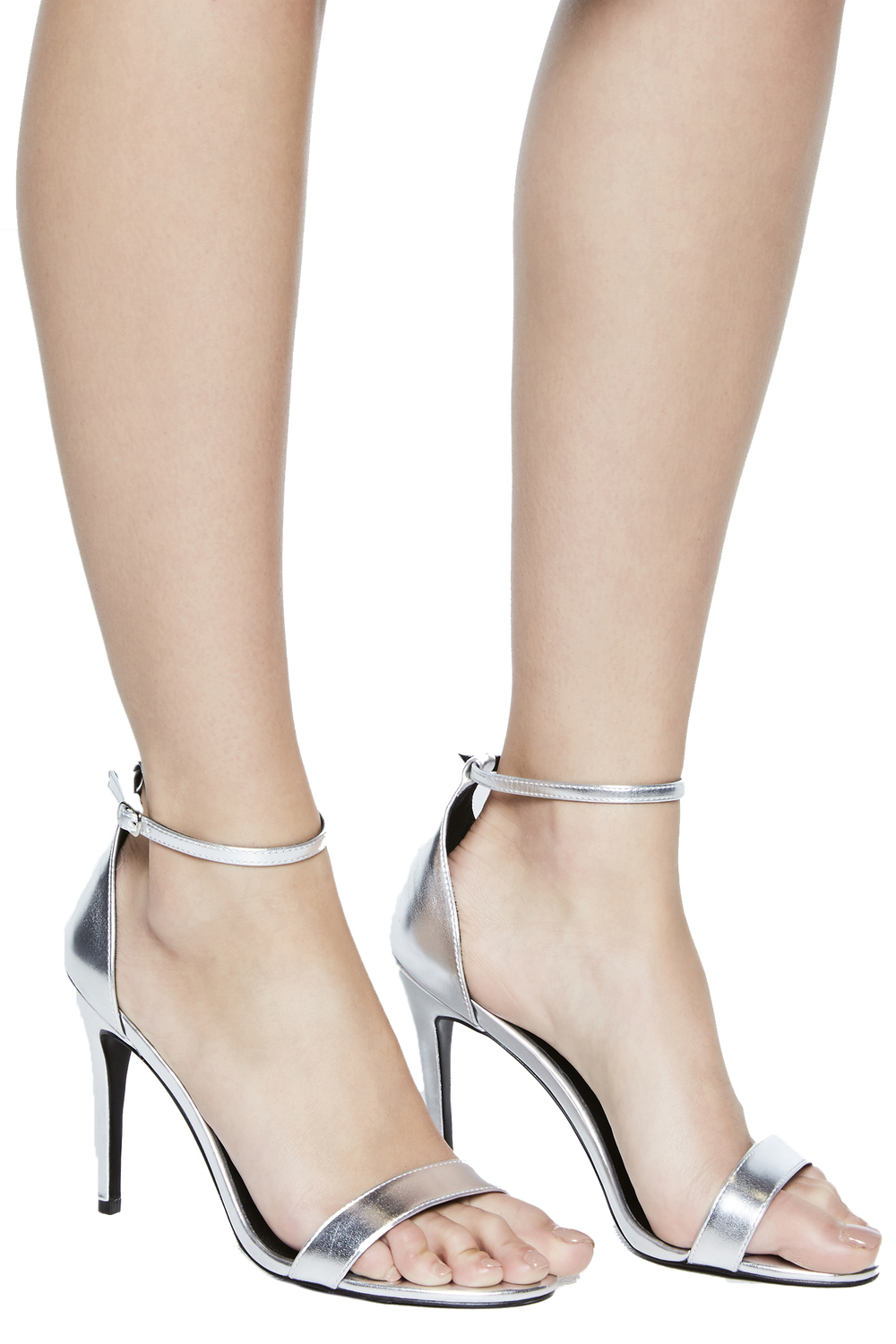 STRAPPY GLADIATOR HEEL in colour SILVER