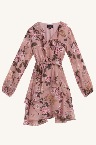 CASSIDY WRAP DRESS in colour EVENING SAND