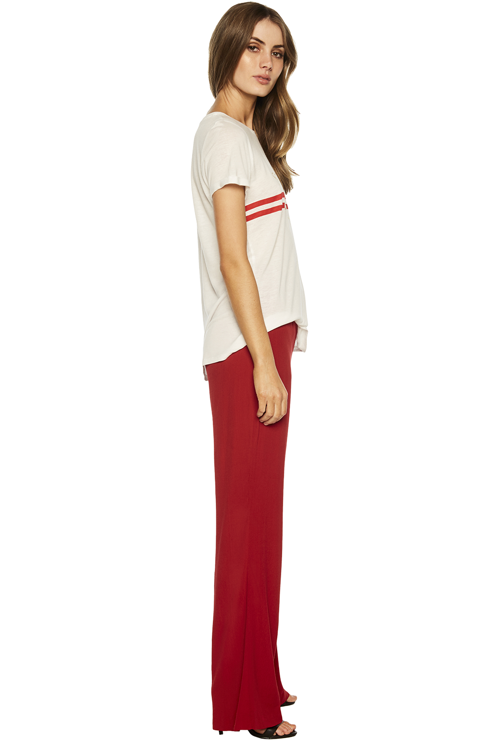 CHELSEA PANT in colour AMERICAN BEAUTY