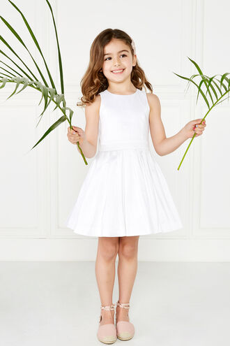 CLARA SHIMMER DRESS in colour CLOUD DANCER